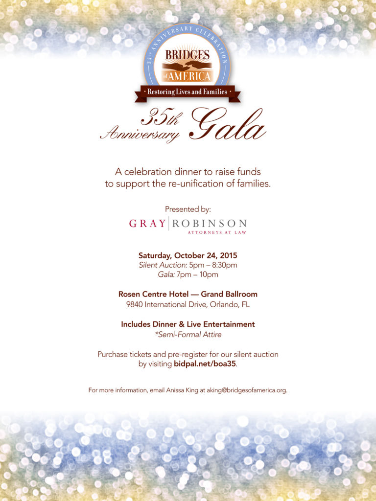 Bridges Gala Flyer