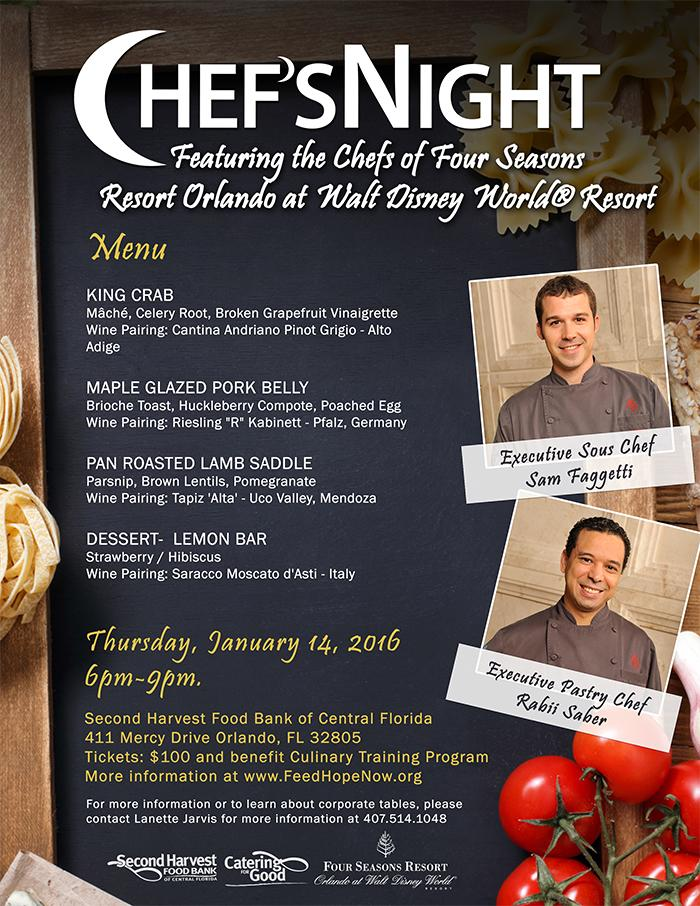 Chefs night January