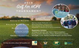 Golf for HOPE tournament 2016