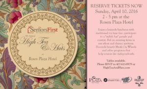 9th Annual High Tea & Hats seniors first