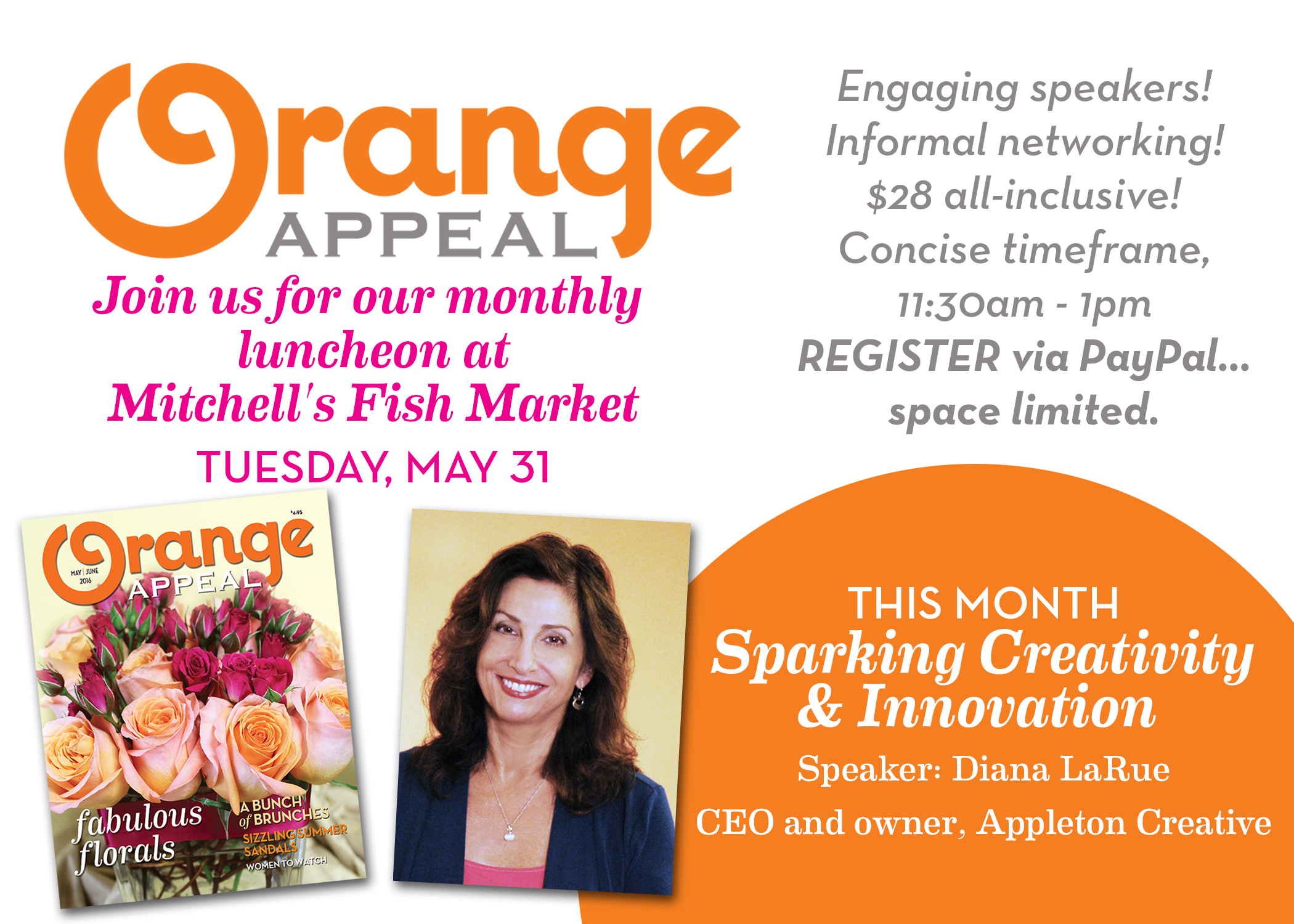Orange Appeal's Ladies Luncheon may 2016