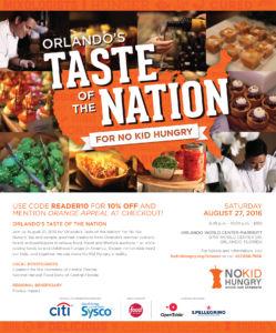 Orlando's Taste of the Nation 2016