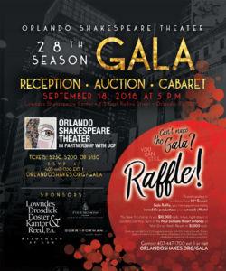 orlando shakespeare theater 28th season Gala