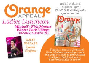Orange appeal ladies luncheon august 2016
