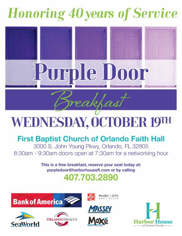 Harbor House Purple Door