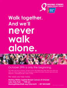 Making strides against breast cancer of Orlando