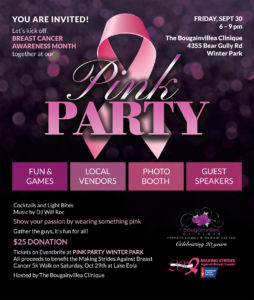 American Cancer Society Pink Party