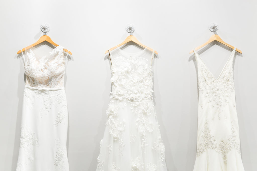 8529f2be760 Book on a weekday to avoid heavy traffic. If you don t want to try on  dresses in front of other brides